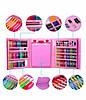 Набор для детского творчества в чемодане из 208 предметов | Набор для рисования с мольбертом розовый, фото 6