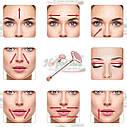 Роликовий кварцовий масажер для обличчя   Масажер від зморшок FLAWLESS CONTOUR, фото 7