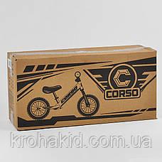 """Детский велобег """"CORSO"""" 55408, стальная рама, надувные колёса, размер колес - 12 (синий), фото 3"""