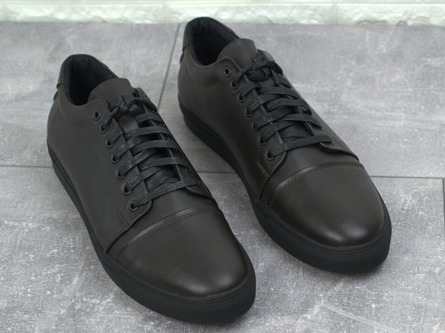 Коричневые кожаные кроссовки кеды мужская обувь больших размеров Rosso Avangard Gushe Brown TPR BS