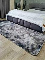 Меховой коврик на пол серого окраса, фото 1