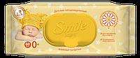 Влажные салфетки Smile Baby с экстрактом ромашки и алоэ, 60 шт, фото 1