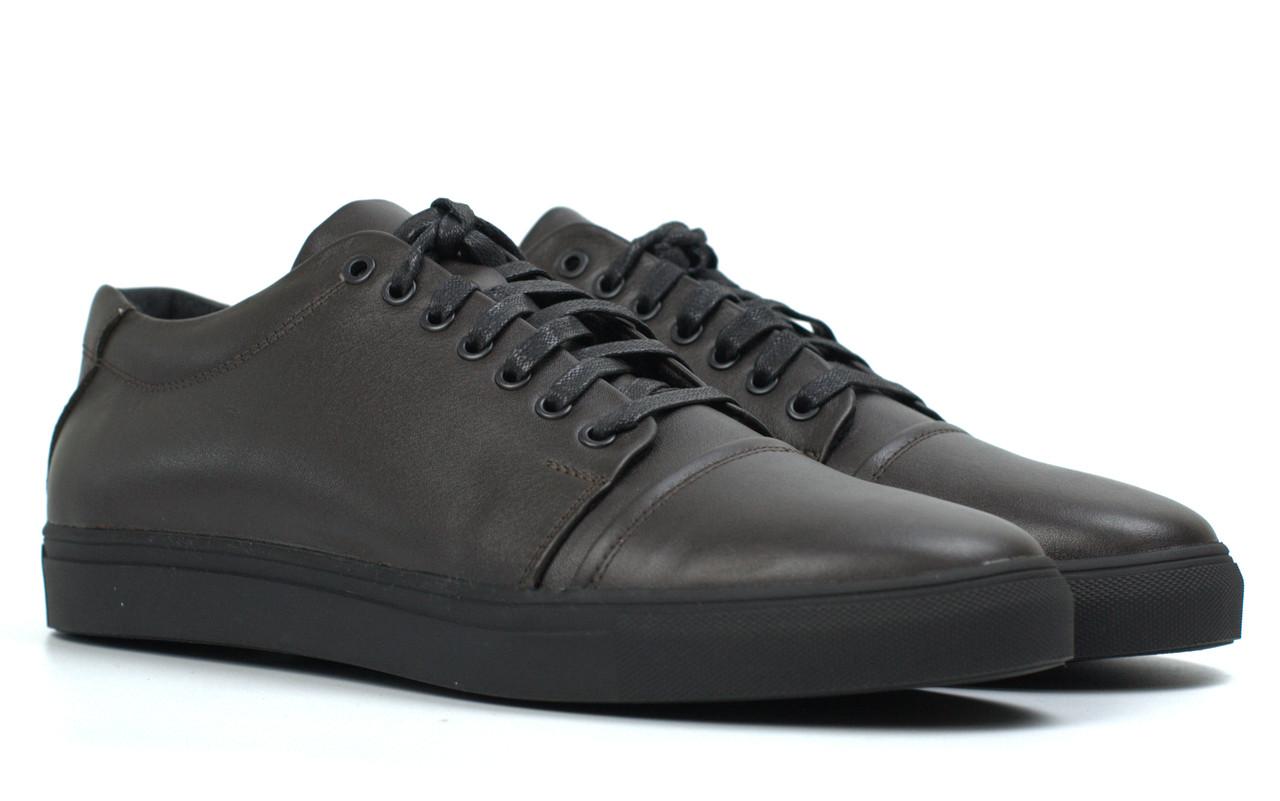 Коричневые кожаные кроссовки кеды мужская обувь Rosso Avangard Gushe Brown TPR