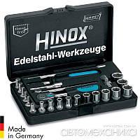 """Набір головок Hinox з нержавіючої сталі 1/4"""" 24 пр. 854X Hazet Німеччина"""
