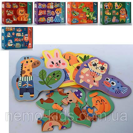 Деревянная игрушка Пазлы. 5 видов. Динозавры, Сказки, Животные.