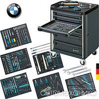 Дилерський набір інструментів BMW 264 предметів у візку Hazet Німеччина