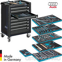 Дилерський набір інструментів VAG Audi 214 предметів у візку Hazet Німеччина