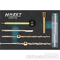 Набор для ремонта резьбы крепления инжектора 4797/10 Hazet Германия
