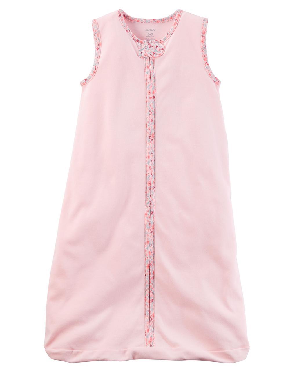 Хлопковый спальник для девочки Carters розовый