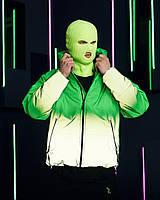 Куртка демисезонная мужская Пушка Огонь Yard зелено-рефлективная