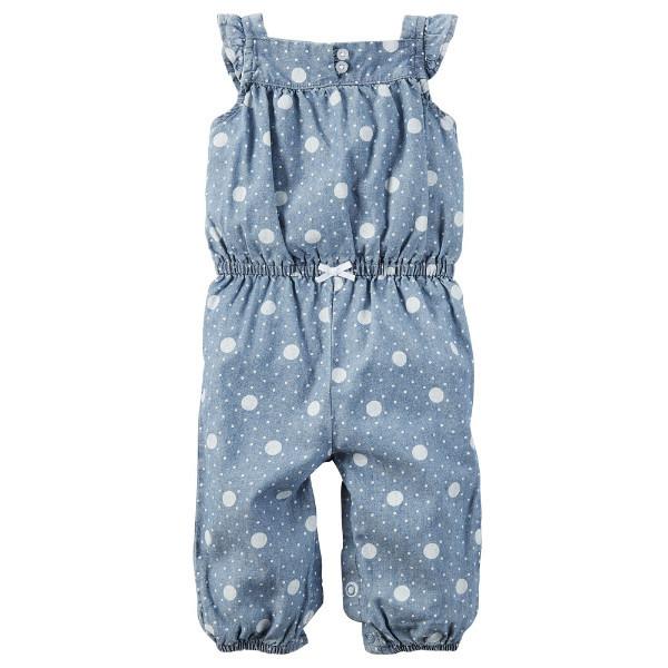 Комбинезон ромпер штаны для девочки Carters джинс