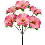 Штучні букет квіти мальва атласна, 37см (20 шт в уп), фото 2