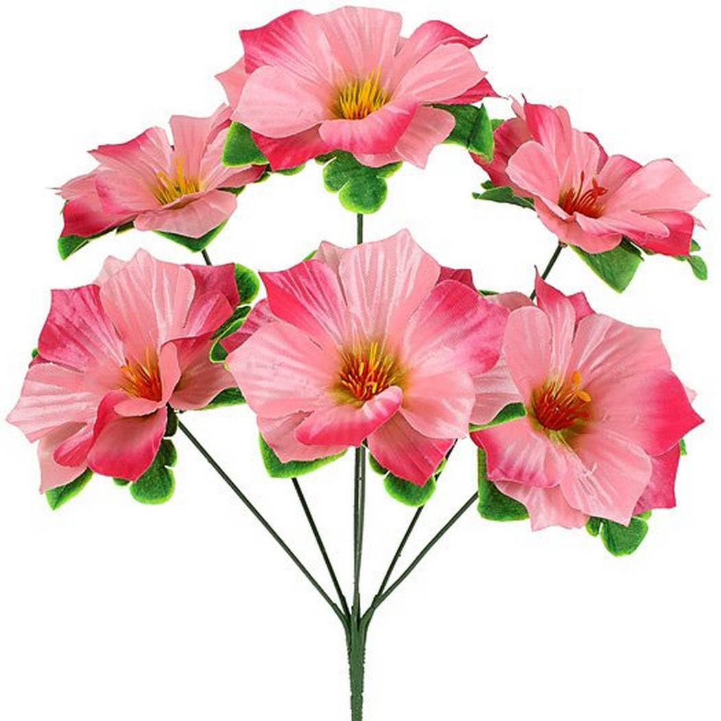 Штучні букет квіти мальва атласна, 37см (20 шт в уп)