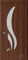 Двері Німан модель Сабріна ПВХ, Горіх шоколадний, 800