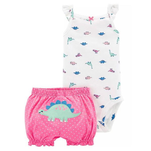 Набор бодик и шорты для девочки Carters динозаврик