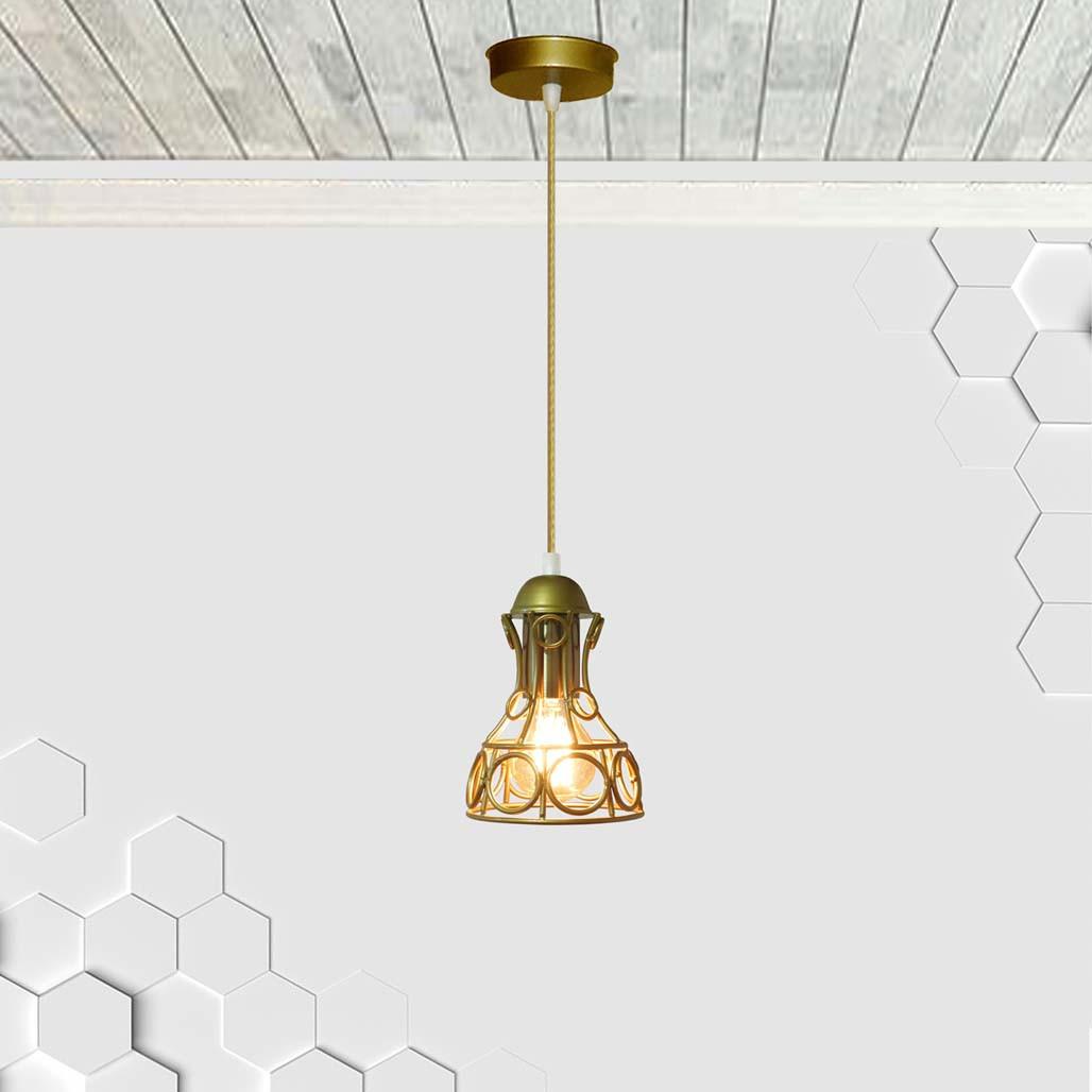 Подвесной светильник RINGS E27 золото
