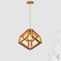 Подвесной светильник MOBIUS E27 на 1-лампу, светлое дерево, фото 1