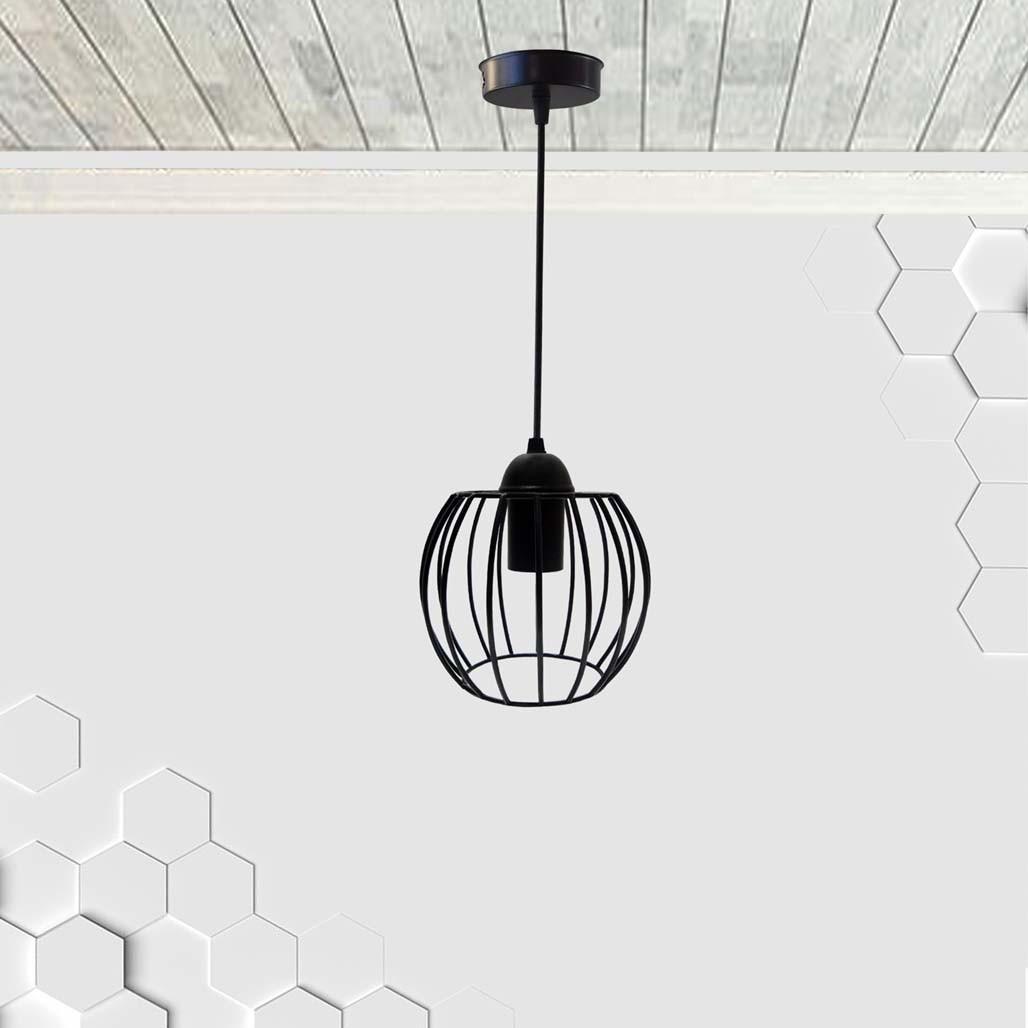 Подвесной светильник BARREL E27 чёрный