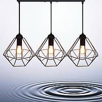 Подвесная люстра на 3-лампы CLASSIC-3 E27 чёрный, фото 1