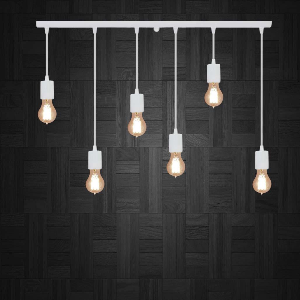Подвесной светильник на 6-ламп CEILING-6 E27 белый