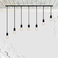 Подвесной светильник на 7-ламп CEILING-7 E27 чёрный, фото 1