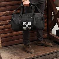 Спортивная сумка для тренировок бочонок черная, фото 1