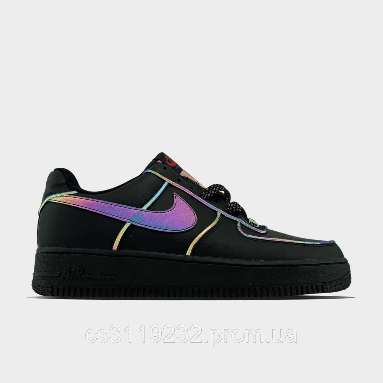 Жіночі кросівки Nike Air Force 1 Type Black (чорні)