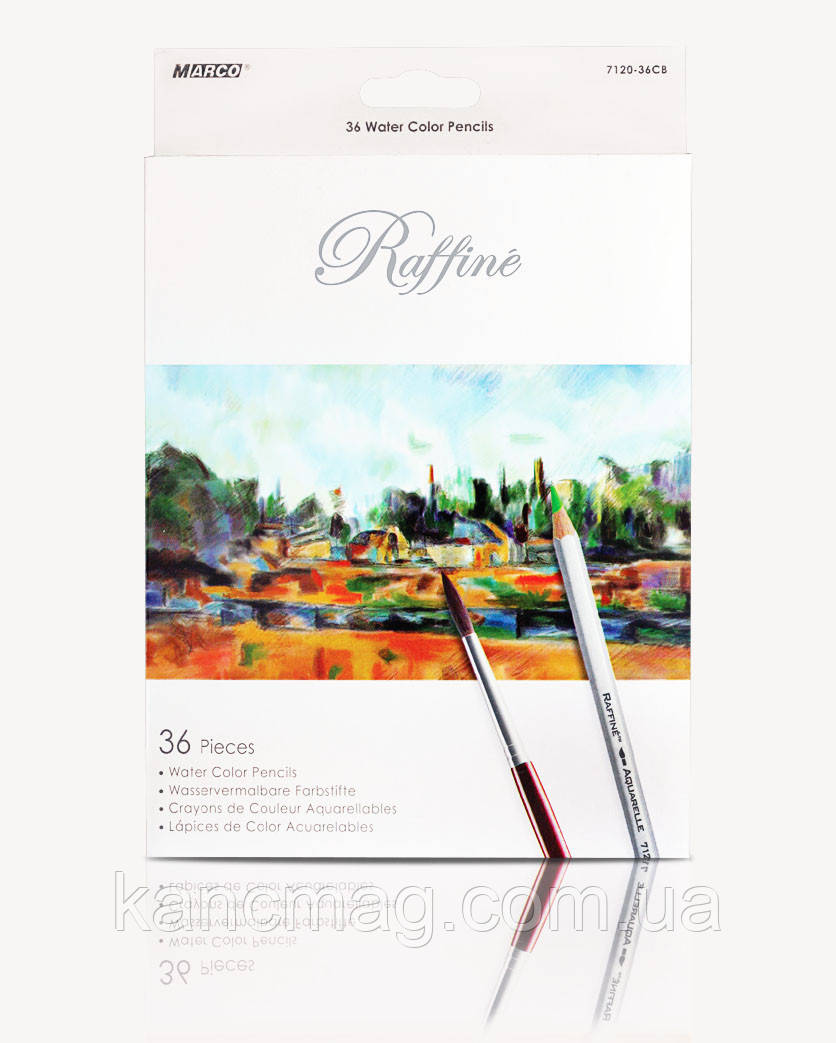 Карандаши акварельные 36 цветов Marco Raffine 7120-36CB