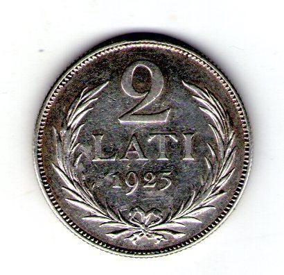 "Латвія 2 лата 1925 р. ""Перша Республіка (1922 - 1940)"" срібло №259"