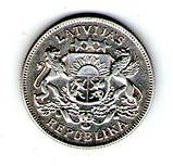 """Латвія 2 лата 1925 р. """"Перша Республіка (1922 - 1940)"""" срібло №259, фото 2"""