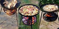 Сковорода 50 см+ кришка + чохол + підставка для вогню