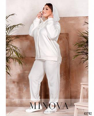Спортивный костюм жіночий батал  №2225-1-бел|50-52|54-56|58-60|62-64, фото 2