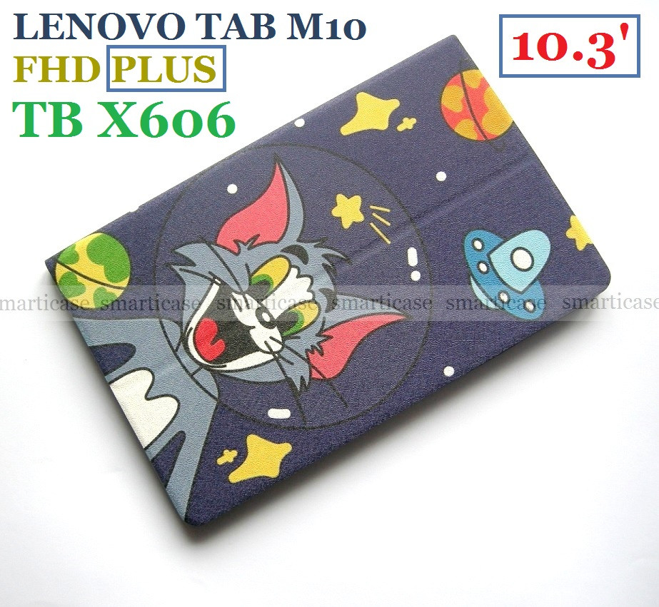 Защитный чехол Том в космосе для Lenovo Tab M10 FHD Plus (TB X606X X606F), силиконовый футляр