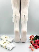 Белые капроновые колготки для девочки.Р 3-4(98-104) 5-6(110-116), 7-8(122-128), 9-10(134-140), 11-12 (146-152)