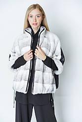 Куртка норковая с плащевкой, размеры 42-50