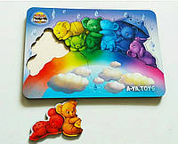 Головоломка Медвежата на веселці для вивчення кольорів, 2+, фото 1