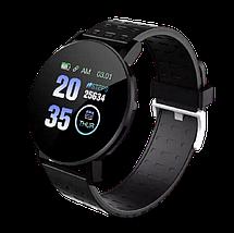 Фитнес-браслет Smart Band 119 Plus - Смарт часы, фитнес браслет, фитнес часы Черные, фото 2
