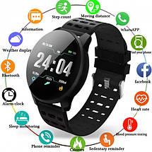 Фитнес-браслет Smart Band 119 Plus - Смарт часы, фитнес браслет, фитнес часы Черные, фото 3