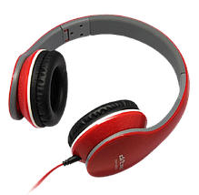 Наушники с микрофоном Ditmo DM-2550 Красные - проводные наушники для компьютера, ноутбука, фото 3