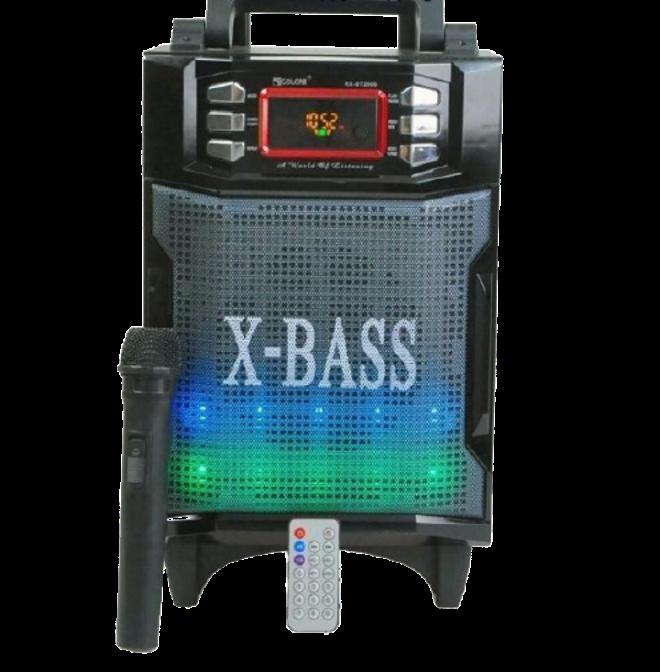 Колонка валізу з мікрофоном Golon RX-2900BT - портативна Bluetooth колонка комбік з радіо і світломузикою