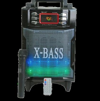 Колонка валізу з мікрофоном Golon RX-2900BT - портативна Bluetooth колонка комбік з радіо і світломузикою, фото 2