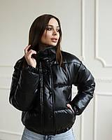 Женская курточка Хлоя из экокожи без капюшона, цвет черный, стильная куртка премиум качества