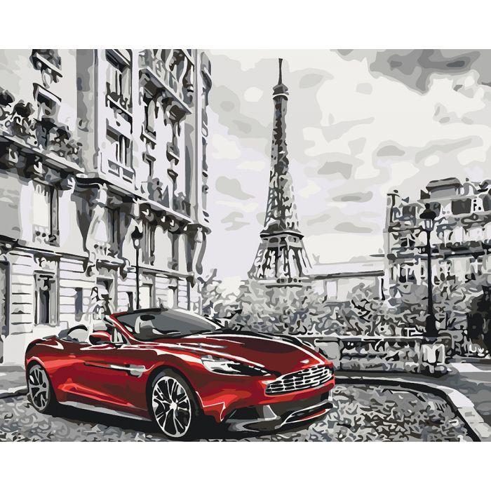 """Картина по номерам. Городской пейзаж """"Утро в Париже"""" 40х50см * KHO3514"""