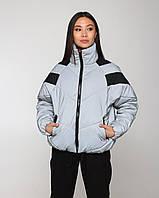 Женская теплая рефлективная светоотражающая куртка Кейт, курточка на молнии, турецкое качество, молодежная, фото 1