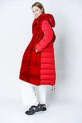 Пуховик  с мехом норки можно носить как жилет., размеры 44-48