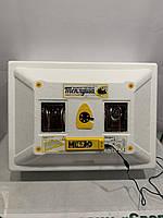 """Инкубатор с резервным питанием """"Теплуша люкс 12 Вольт"""" 72 яйца (Автоматический переворот).Встроенный влагомер."""
