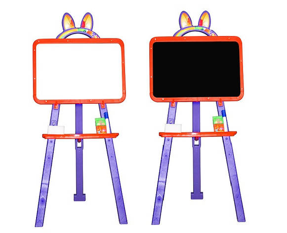 Дошка для малювання магнітна 013777/5 помаранчево-фіолетовий, фото 2