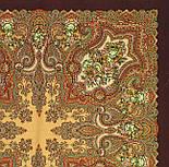 Юлія 1230-17, павлопосадский хустку (шаль) з ущільненої вовни з шовковою бахромою в'язаній, фото 3