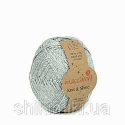 Трикотажний шнур з люрексом Knit & Shine, колір Срібло