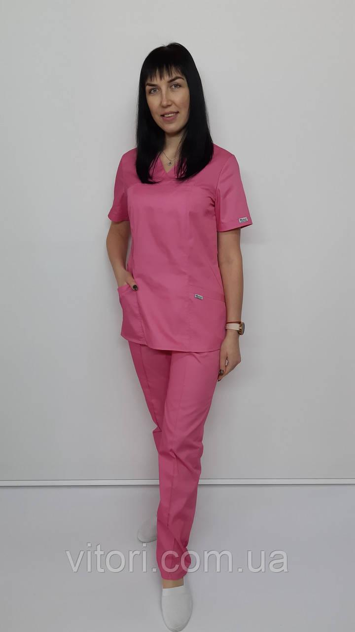 Жіночий хірургічний костюм Класик коттон короткий рукав